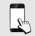 Abstract design realistic mobile phone with blank vector image vector image