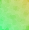 Abstract green yellow background with hexagons vector image vector image