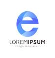 abstract letter e logotype design modern 3d logo