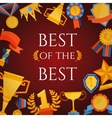 Award and prizes poster vector image vector image