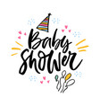bashower lettering vector image vector image