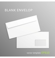 Blank paper envelope vector image vector image