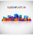 bloemfontein skyline silhouette vector image vector image