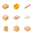 box icons set isometric style vector image vector image