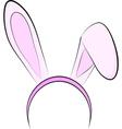 Bunny ears vector image vector image