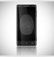 business black smart phone with fingerprint access vector image