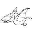 Cartoon pteranodon vector image vector image