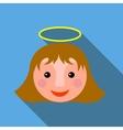 Christmas angel icon flat style vector image