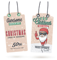 Christmas Sales Hang Tags vector image
