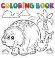 coloring book dinosaur theme 6 vector image vector image
