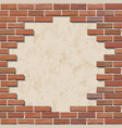 damaged brick wall vector image