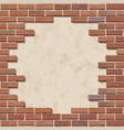 damaged brick wall vector image vector image