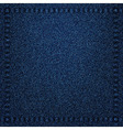 Denim jeans texture with seams vector image