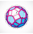 dimensional wireframe low poly object spherical vector image vector image