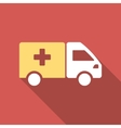 Drug Shipment Flat Square Icon with Long Shadow vector image vector image