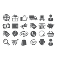 E-commerce and shopping icons vector image