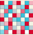 Fashion pattern with squares vector image vector image