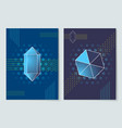 geometric shapes posters set vector image vector image