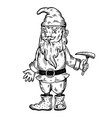 gnome mythical creature engraving vector image