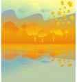 golden autumn grove vector image vector image