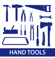 hand tools icon set eps10 vector image