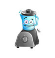 Happy kitchen blender cartoon character