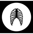 human ribs bones black simple icon eps10 vector image vector image