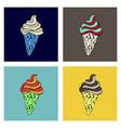 ice cream cone - icecream summer sweet isolated vector image vector image