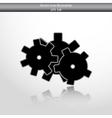icon of gears vector image vector image