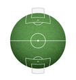 icon round soccer field on the sphere lawn texture vector image