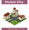 isometric retro 3d urban module of the city for vector image vector image