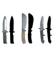 knives set2 vector image