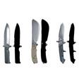 knives set2 vector image vector image