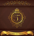 Letter T Luxury Logo template flourishes vector image