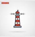 lighthouse colored outline icon symbol isolated vector image vector image