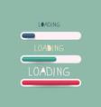 loading bar symbol vector image vector image