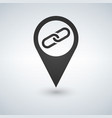 map pointer with link icon vector image vector image