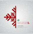 merry christmas and happy new year snowflake with vector image vector image