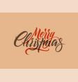 merry christmas calligraphy retro christmas card vector image