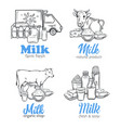 milk product banners vector image vector image