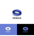 mobius logo impossible shape web icon vector image