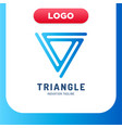 modern and simple triangle logo in line style vector image vector image