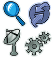 objects for website vector image vector image