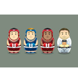 Olympic Boxing Russian Dolls vector image