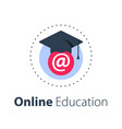 online education distant learning vector image