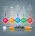 pencil idea education icon business infographic vector image vector image