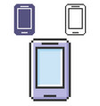 pixel icon smartphone in three variants fully vector image vector image
