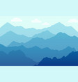 scenic panorama with mountains - beautiful vector image vector image