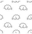seamless pattern from stegosaurus vector image