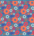 seamless pattern with colorful gears and cogwheels vector image
